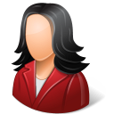 128x128px size png icon of Office Customer Female Light