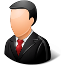 128x128px size png icon of Office Customer Male Light