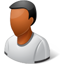 128x128px size png icon of Person Male Dark