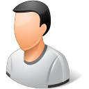 128x128px size png icon of Person Male Light
