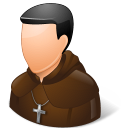 128x128px size png icon of Religions Catholic Monk