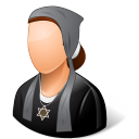 128x128px size png icon of Religions Jew Female