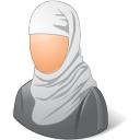 128x128px size png icon of Religions Muslim Female