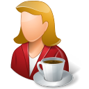 128x128px size png icon of Rest Person Coffee Break Female Light