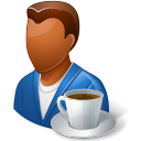 Rest Person Coffee Break Male Dark Icon