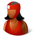 128x128px size png icon of Sport Boxer Female Dark