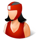 128x128px size png icon of Sport Boxer Female Light