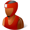 128x128px size png icon of Sport Boxer Male Dark