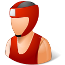 128x128px size png icon of Sport Boxer Male Light