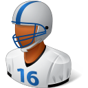 128x128px size png icon of Sport Football Player Male Dark