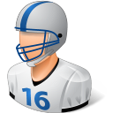 128x128px size png icon of Sport Football Player Male Light