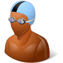 128x128px size png icon of Sport Swimmer Male Dark