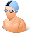 128x128px size png icon of Sport Swimmer Male Light