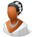 128x128px size png icon of Wedding Bride Dark