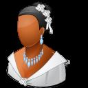 128x128px size png icon of Wedding Bride Dark