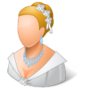 128x128px size png icon of Wedding Bride Light