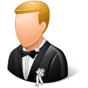 128x128px size png icon of Wedding Groom Light