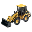 128x128px size png icon of Compact Wheel Loader