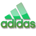 128x128px size png icon of Adidas green logo