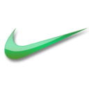 Nike green logo Icon