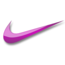 128x128px size png icon of Nike violet