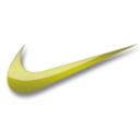128x128px size png icon of Nike yellow