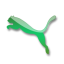 128x128px size png icon of Puma green logo