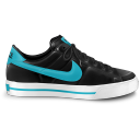128x128px size png icon of nike classic shoe blue