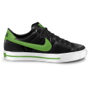 128x128px size png icon of nike classic shoe green