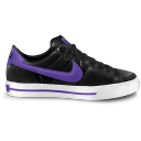128x128px size png icon of nike classic shoe purple