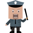 128x128px size png icon of cop