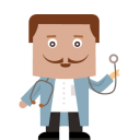 128x128px size png icon of doctor
