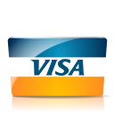 128x128px size png icon of Visa