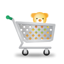 128x128px size png icon of shopping cart