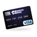 128x128px size png icon of visa credit card