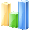 128x128px size png icon of Bar chart