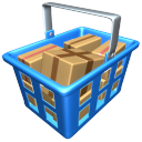 128x128px size png icon of Full basket