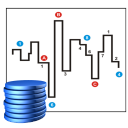 128x128px size png icon of Stock market