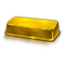 128x128px size png icon of Gold Bullion