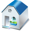 128x128px size png icon of One storied house