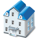128x128px size png icon of Two storied house