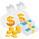 128x128px size png icon of Money Bag