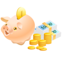 128x128px size png icon of Money Pig