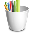 128x128px size png icon of pencil can