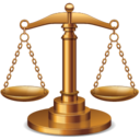 128x128px size png icon of justice balance