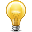 128x128px size png icon of light bulb