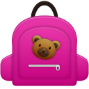 128x128px size png icon of Schoolbag girl