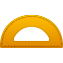 128x128px size png icon of Semicircle ruler