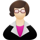 128x128px size png icon of Teacher female