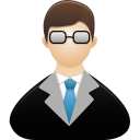128x128px size png icon of Teacher male